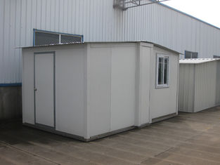 China Sandwich Panel White Foldable Emergency Shelter / Steel Frame Foldable House supplier