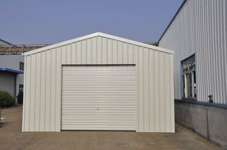 China Prefabricated Metal Car Sheds / Car Parking Shed With Light Weight supplier