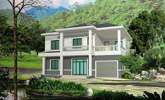 China Prefabricated Rural Villa With Light Steel Frame , Quick Assemble Prefab Modular Housing supplier