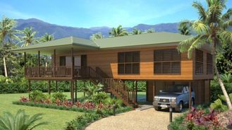 China Light Steel Wooden House Bungalow / Luxury Beach Bungalows For Thailand supplier