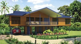 China Bali Prefabricated Wooden Houses / ETC Home Beach Bungalows For Holiday Living supplier