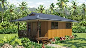 China Light Steel Frame wooden design,earthquake proof cyclone proof, Fiji style prefab Bungalow supplier