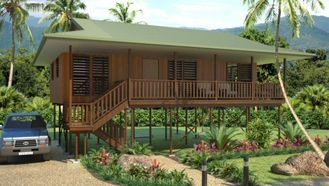 China Light Steel Framing Wooden Bungalow /  High Acoustic Insulation Home Beach Bungalows supplier