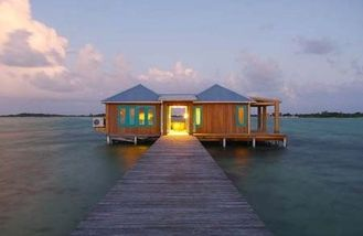 China 100sqm Light Gauge Steel Frame Overwater Bungalow For Tahiti , Caribbean supplier