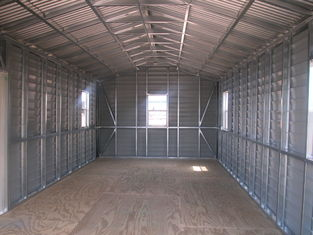 China US Prefabricated Gable Steel Shed , Car Storage Sheds Steel Buildings supplier