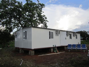 China Modular Portable Emergency Shelter , Foldable Prefabricated Homes / Corrugated Tiles supplier