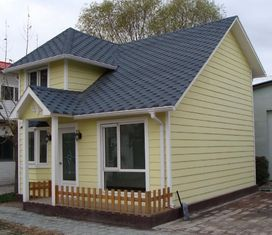 China SAA Earthquake Proof Steel Prefab House Kits With Garage , ETC Yellow Pre House supplier