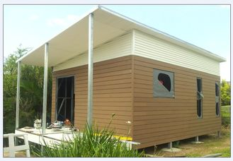 China Australia Style Prefab House Kits , Modern Prefab House With WPC As Exterior Wall Cladding supplier
