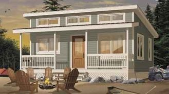 China Prefab House Kits Prefabricated House Kit , Small Villa Design / Wpc Wall Clading supplier