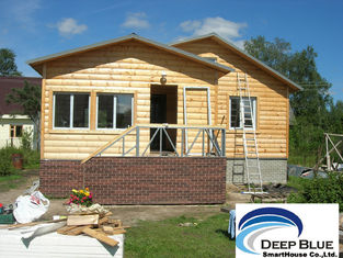China Prefabricated House Kits House , Light Steel Structure Wooden House , Different Color Ceiling supplier