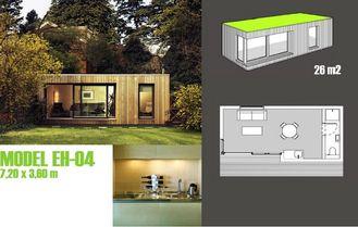 China Booths Garden Studios / Prefabricated Garden Studio With Light Steel Frame supplier