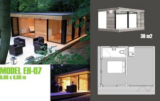 China Modern Moveable Accents Holiday Home / Prefabricated Garden Studio For Holiday Living supplier