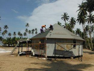 China Prefab Bench Hotel / Island Resort Beach Bungalow supplier