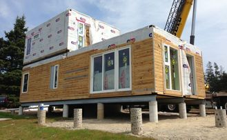 China Modular Buildings Prefabricated House Two Storey Light Gauge Steel Villa supplier