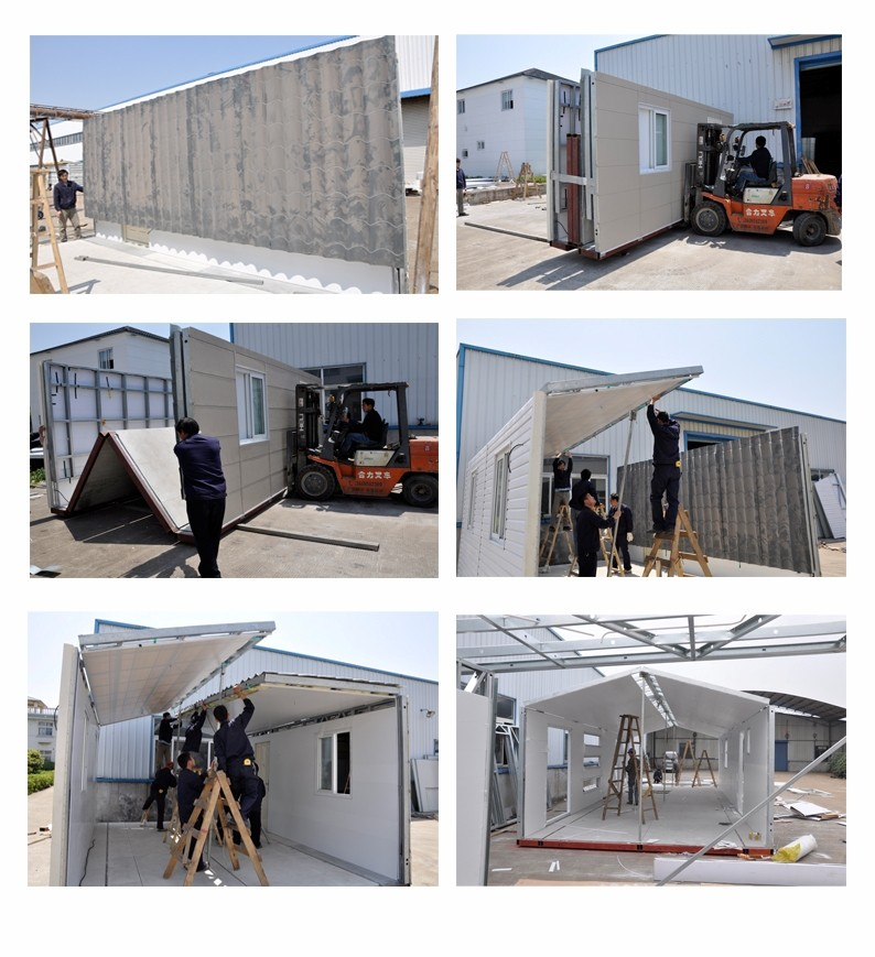 Moistureproof Prefab Mobile Homes / Yellow Mobile Manufactured Homes